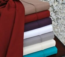 Cotton Rich 800 Thread Count Solid Sheet Sets Choose From 9 Colors 7 Sizes