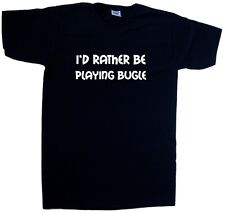 I'd Rather Be Playing Bugle V-Neck T-Shirt