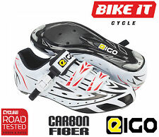 EIGO SIGMA CARBON CYCLING SHOES - ROAD BIKE RACING TRIATHLON COMPETITION CYCLE