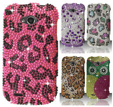 For ZTE Savvy Z750C Crystal Diamond BLING Hard Protector Case Snap Phone Cover