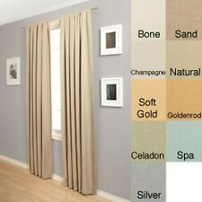 Trilogy Rod Pocket 120-Inch Polyester Curtain Panel
