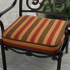 Indoor/ Outdoor 19-inch Striped Chair Cushion with Sunbrella Fabric