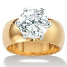 Palmbeach CZ Gold Overlay Cubic Zirconia Solitaire Ring