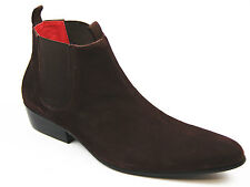 NEW MOD RETRO 60S MENS CLASSIC CHELSEA BOOTS: Sixties BROWN SUEDE LIGHTFOOT
