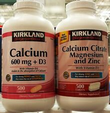 Kirkland Signature Absorbable Calcium Strong Bones Teeth 500 Tabs ~ One Bottle