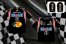 Tony Stewart Mobil 1 Bass Pro NASCAR Pit Shirt Black Adult Mens