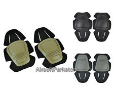 New Airsoft Tactical G3 Protective Knee Pads 3 Colors Tan/Black/FG