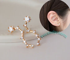 Set of Two Made in Korea the Big Dipper Star Earrings Pure Sterling Silver Studs