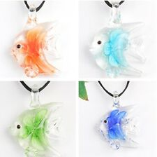 p869 CUTE fish LOVE JT22 elegant lampwork Murano glass beaded pendant necklace