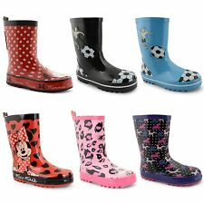 New Kids Boys Girls Snow Winter Rain Waterproof Wellington Boots UK Size 8-2