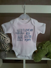 TATTY I LOVE MY PERSONALISED BABY VEST CUTE FUNNY BODYSUIT CHRISTENING GIFT NEW