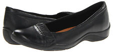 "Clarks Women's NEW ""Kessa Myrtle"" 66526 BLACK Leather Slip On Ons Shoes SIZES"