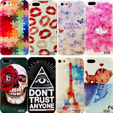 Colorful Unique painted Pattern Hard Back Skin Case Cover For iPhone4 4S 5 5S 5C