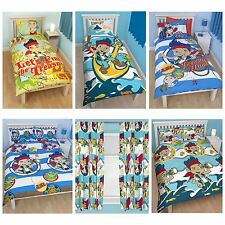 JAKE & THE NEVERLAND PIRATES BEDROOM - DUVET COVERS & CURTAINS – SINGLE & DOUBLE