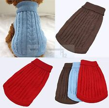 New Pet Dog Warm Jumper Sweater Clothes Cat Dog Knitwear Costume Coat Apparel
