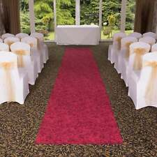 Rose Red - Very Long Cheap Floral VIP Wedding Aisle Carpet Runner For Church