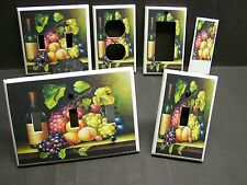 WINE AND GRAPES  FRUIT   KITCHEN DECOR LIGHT SWITCH COVER PLATE OR OUTLET