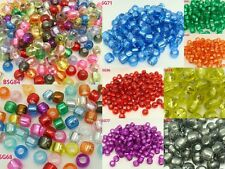 Charms Acrylic Round/Tube Loose Spacer Beads Color Pick 50g For Jewelry Making
