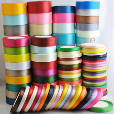 Lots 25Yard/1roll Mix Color/Size Satin Ribbon DIY Craft Wedding Supply ZXFR012