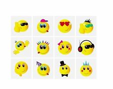 TEMPORARY SMILEY FACE TATTOOS CHILDREN KIDS LOOT GOODY PARTY BAGS PINNATA FILLER