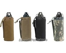 ROGISI Airsoft Outdoor 1000D MOLLE Tactical Water Bottle Pouch Bag 4 Colors BK