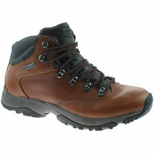 LADIES HI-TEC WATERPROOF HIKING BOOTS SIZE UK 4 - 8 WALKING BROWN ALTITUDE GLIDE