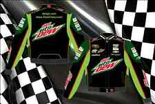 Dale Earnhardt Jr Nascar Jacket Diet Mountain Dew Black Green Adult Twill