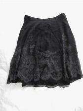 New Women's Limited Black & Gray Silk Skirt Sizes 2, 10 - NWT ($78)