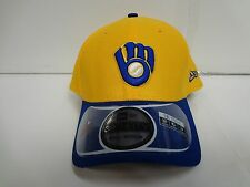 Milwaukee Brewers Cap New Era 39Thirty Stretch Fit Fitted Hat DE Reverse MLB