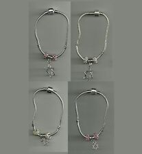 Silver Plated Bracelet with Star of David Charm & Crystal Beads