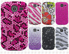 For Samsung Freeform 4 R390 Crystal Diamond BLING Case Snap On Phone Cover