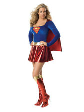 Adult Supergirl Party Outfit Fancy Dress Costume Sexy Superhero Ladies Womens BN