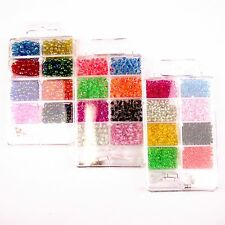 Seed Bead and Thread Started Kit Packs in 3 Types!  Mini Beading Sets