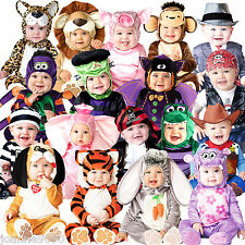 NEW BOYS GIRLS BABY BABYGROW HALLOWEEN OUTFIT ANIMAL TODDLER FANCY DRESS COSTUME