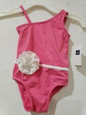 NWT Baby Gap Girls Pink White Flower Bathing Swimsuit 3-6m, 6-12m 12-18 18-24