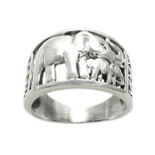 925 Sterling Silver Mother and Baby Elephant Ring Size 5-9