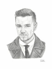 LIAM PAYNE 1D Direction art drawing prints avail 2 sizes A4/A3 & greetings Card