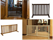 "20""H Kensington poplar wood pet dog cat gate barrier S 28"" to 48""W in 4 stains"