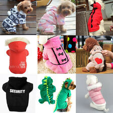 Pet Dog Cat Warm Fleece Clothes Jumpsuit Puppy Spiderman Hoodie Dress Costume