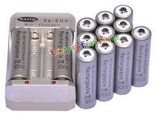 12xAA 3000mAh 1.2V Ni-MH Rechargeable Battery Grey for RC Toys Camera +Charger