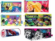 MOVIE CHARACTER FLAT PENCIL CASE SCHOOL STATIONERY CHILDRENS KIDS GIFT