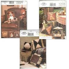 OOP Vogue Sewing Pattern Pillows Home Décor and Accessories Your Choice