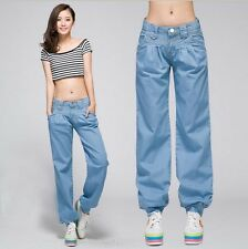 Women's ladys fashion 8 size  Casual Loose harem  jeans Pants Trousers