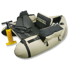 Keeper Belly Boat Ready To GO Float Tube Kit Double Action Pomp Fins Carry Bag