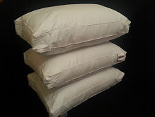 NEW PAIR OF LUXURY BOX SQUARE BED PILLOWS HOTEL QUALITY SOFT AS DOWN PILLOW UK