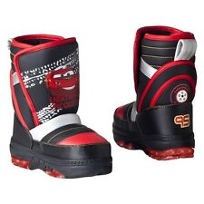 CARS 2 LIGHTNING McQUEEN DISNEY Insulated Waterproof Snow Boots NWT Sz. 7/8  $38