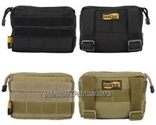 LooYoo Molle Tactical 1050D Cordura Utility Accessory Pouch 2 Colors Black/Tan