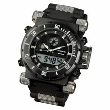 Night Vision INFANTRY MILITARY ARMY DUAL QUARTZ TACTICAL SPORT MENS WRIST WATCH