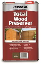 Ronseal Total Wood Preservative 5L - In Clear or 3 Natural Colours
