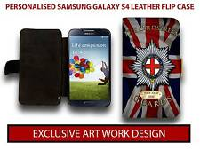 PERSONALISED COLDSTREAM GUARDS REGIMENT SAMSUNG GALAXY S LEATHER CASE